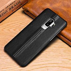 Handytasche Stand Schutzhülle Leder Hülle P03 für Samsung Galaxy S9 Plus Schwarz