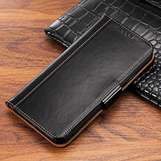 Handytasche Stand Schutzhülle Leder Hülle P04 für Apple iPhone X Schwarz