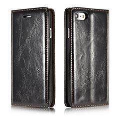 Handytasche Stand Schutzhülle Leder Hülle T01 für Apple iPhone SE (2020) Schwarz
