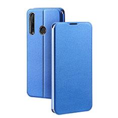 Handytasche Stand Schutzhülle Leder Hülle T01 für Huawei Honor 20 Lite Blau