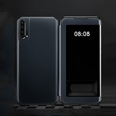 Handytasche Stand Schutzhülle Leder Hülle T01 für Huawei Honor 20 Pro Blau
