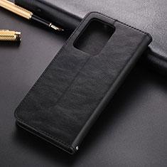 Handytasche Stand Schutzhülle Leder Hülle T01 für Samsung Galaxy S20 Ultra Schwarz