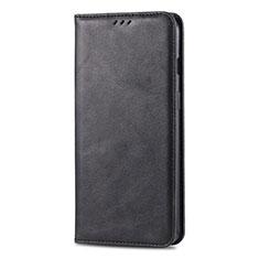 Handytasche Stand Schutzhülle Leder Hülle T02 für Huawei Honor 20 Lite Schwarz