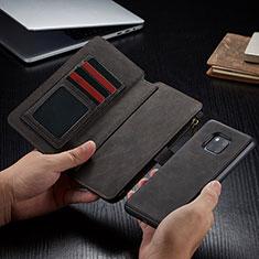 Handytasche Stand Schutzhülle Leder Hülle T02 für Huawei Mate 20 Pro Schwarz