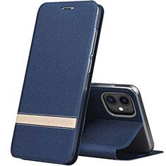 Handytasche Stand Schutzhülle Leder Hülle T03 für Apple iPhone 11 Blau