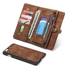 Handytasche Stand Schutzhülle Leder Hülle T03 für Apple iPhone 6S Plus Braun