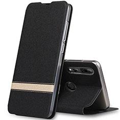 Handytasche Stand Schutzhülle Leder Hülle T03 für Huawei Honor 20 Lite Schwarz