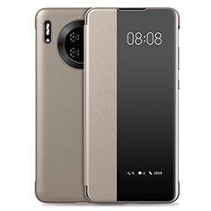 Handytasche Stand Schutzhülle Leder Hülle T03 für Huawei Mate 30E Pro 5G Gold