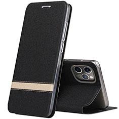 Handytasche Stand Schutzhülle Leder Hülle T04 für Apple iPhone 11 Pro Schwarz