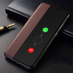 Handytasche Stand Schutzhülle Leder Hülle T04 für Huawei Mate 30 5G Braun