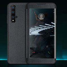 Handytasche Stand Schutzhülle Leder Hülle T05 für Huawei Honor 20 Schwarz