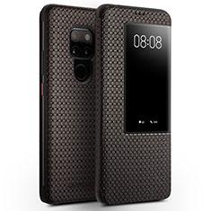 Handytasche Stand Schutzhülle Leder Hülle T05 für Huawei Mate 20 Braun