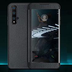 Handytasche Stand Schutzhülle Leder Hülle T05 für Huawei Nova 5T Schwarz