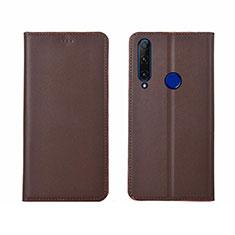Handytasche Stand Schutzhülle Leder Hülle T06 für Huawei Honor 20 Lite Braun