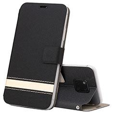 Handytasche Stand Schutzhülle Leder Hülle T06 für Huawei Mate 20 Pro Schwarz