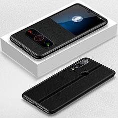 Handytasche Stand Schutzhülle Leder Hülle T07 für Huawei Honor 20 Lite Schwarz