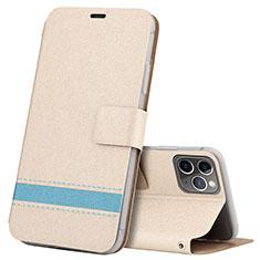 Handytasche Stand Schutzhülle Leder Hülle T08 für Apple iPhone 11 Pro Max Gold