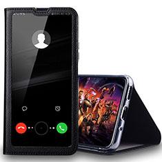Handytasche Stand Schutzhülle Leder Hülle T08 für Huawei Honor 20 Lite Schwarz
