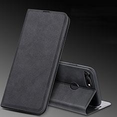 Handytasche Stand Schutzhülle Leder Hülle T08 für Huawei Honor V20 Schwarz