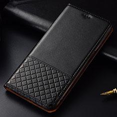 Handytasche Stand Schutzhülle Leder Hülle T09 für Huawei P30 Schwarz