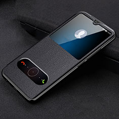 Handytasche Stand Schutzhülle Leder Hülle T10 für Huawei Honor 20 Lite Schwarz