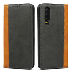 Handytasche Stand Schutzhülle Leder Hülle T10 für Huawei P30 Schwarz