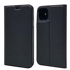 Handytasche Stand Schutzhülle Leder Hülle T11 für Apple iPhone 11 Schwarz