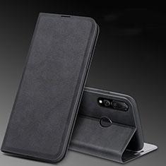 Handytasche Stand Schutzhülle Leder Hülle T11 für Huawei Honor 20E Schwarz