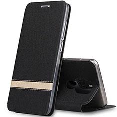 Handytasche Stand Schutzhülle Leder Hülle T14 für Huawei Mate 20 Schwarz