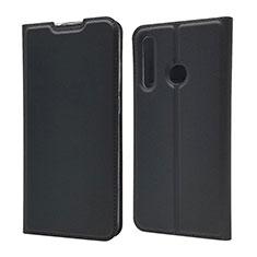 Handytasche Stand Schutzhülle Leder Hülle T15 für Huawei Honor 20 Lite Schwarz