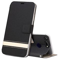 Handytasche Stand Schutzhülle Leder Hülle T15 für Huawei Honor V20 Schwarz