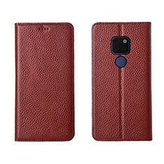 Handytasche Stand Schutzhülle Leder Hülle T15 für Huawei Mate 20 Braun