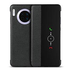 Handytasche Stand Schutzhülle Leder Hülle T16 für Huawei Mate 30 Pro 5G Schwarz