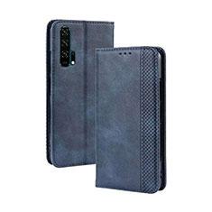 Handytasche Stand Schutzhülle Leder Hülle T18 für Huawei Honor 20 Pro Blau