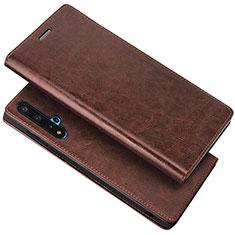 Handytasche Stand Schutzhülle Leder Hülle T18 für Huawei Nova 5T Braun