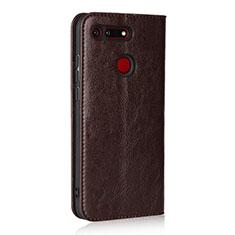 Handytasche Stand Schutzhülle Leder Hülle T19 für Huawei Honor V20 Braun