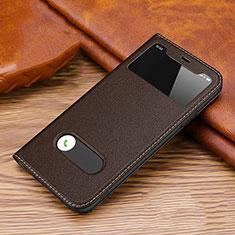 Handytasche Stand Schutzhülle Leder Hülle T20 für Apple iPhone 11 Pro Braun