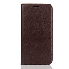 Handytasche Stand Schutzhülle Leder Hülle U01 für Huawei Enjoy 8S Braun