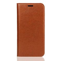 Handytasche Stand Schutzhülle Leder Hülle U01 für Huawei Enjoy 8S Orange