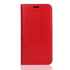 Handytasche Stand Schutzhülle Leder Hülle U01 für Huawei Enjoy 8S Rot