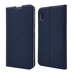 Handytasche Stand Schutzhülle Leder Hülle U01 für Samsung Galaxy A10 Blau