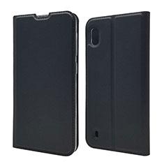 Handytasche Stand Schutzhülle Leder Hülle U01 für Samsung Galaxy A10 Schwarz