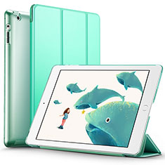 Handytasche Stand Schutzhülle Leder L01 für Apple iPad 2 Grün