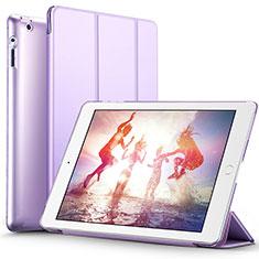 Handytasche Stand Schutzhülle Leder L01 für Apple iPad 2 Violett