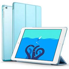 Handytasche Stand Schutzhülle Leder L01 für Apple iPad Air Hellblau