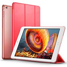 Handytasche Stand Schutzhülle Leder L01 für Apple iPad Air Rot