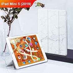 Handytasche Stand Schutzhülle Leder L01 für Apple iPad Mini 5 (2019) Weiß
