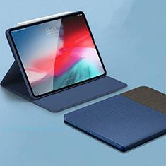 Handytasche Stand Schutzhülle Leder L01 für Apple iPad Pro 11 (2018) Blau