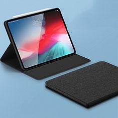 Handytasche Stand Schutzhülle Leder L01 für Apple iPad Pro 11 (2018) Schwarz