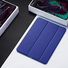 Handytasche Stand Schutzhülle Leder L01 für Apple iPad Pro 12.9 (2018) Blau